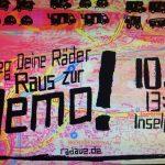 Morgen Demo für den Wagenplatz Radaue!