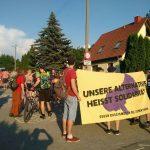 Proteste gegen Stammtisch der AfD: Erste Demonstration in Wöllnitz